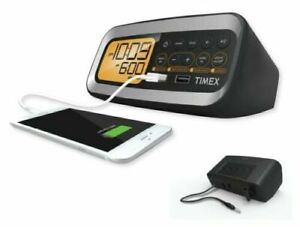 TIMEX T1305 FM Alarm Clock w/ Dual USB Charging Port (NEW) Sealed
