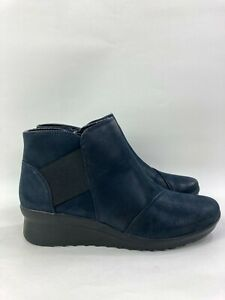 CLOUDSTEPPERS by Clarks Ankle Booties Caddell Tropic Blue/Navy, Women's Size 6.5