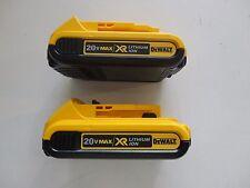 (2) DEWALT 20V 20 Volt Max Lithium-Ion Battery Packs Model DCB203 x 2