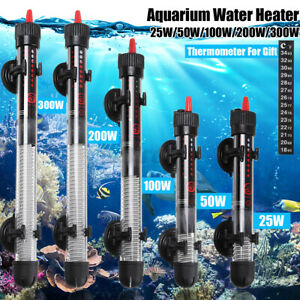 Submersible Aquarium Heater Tropical Fish Tank Thermostat Heating Rod 25 To