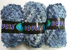 LOT of 3 Dark Horse Yarns Boucle #13 Blue Jeans - Wool Blend
