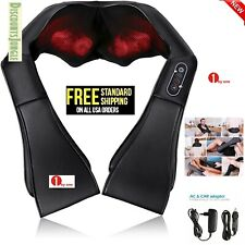 1 by one Shiatsu Kneading Neck Back Massager w/Heat Perfect for Car/Office/Chair