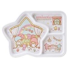 Lovely Little Twin Stars Melamine 3 Parts Divided Plate for Kids