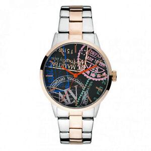 Alv By Alviero Martini Men's Watch Steel New Collection ALV0007+Clutch