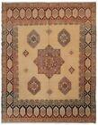 9x12 Magnificent Vintage Turkish Oushak Beige Area Rug Ikat Handmade Rug