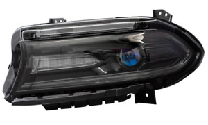 Headlight fits 2015-2019 Dodge Charger Driver Side Halogen Headlamp without Logo