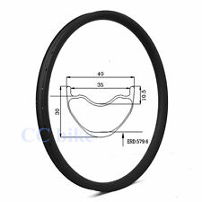 29er 40mm width mtb carbon rim 29 inch mountain bicycle rim tubeless 32H 1pc