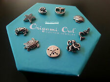 NEW ORIGAMI OWL OCEAN and SEALIFE CHARMS, Clam, mermaid, crab, turtle & more