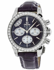 422.18.35.50.10.001 | NEW OMEGA DE VILLE DIAMOND WOMEN'S WATCH w/ PURPLE STRAP
