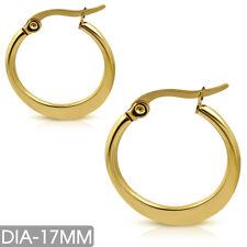 Edelstahl Ohrringe Ø17mm Creolen Stainless steel huggie earrings e-ehe199