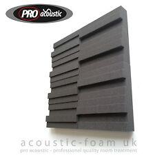 "14x BLOCK75 Pro Acoustic Foam Wedge Tiles 12"" 305mm Studio Sound RoomTreatment"