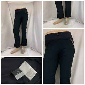 Nike Sweatpants PS Black Front Zip Pockets Polyester Stretch YGI W1-131