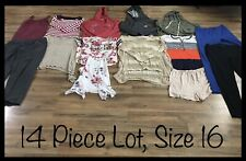 Girls Clothing Lot, 14 Items, Size 16, Derek Heart, Tommy Hilfiger, LoveJ