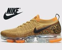 🔥 Latest Nike Air VaporMax Flyknit 2 ® ( Men UK: 7 9.5 10 ) Club Gold Golden
