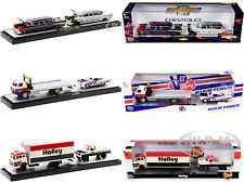 Auto Haulers Release 43, 3 Trucks Set 1/64 Diecast Models M2 Machines 36000-43