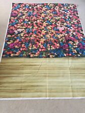 Backdrop Photography Wooden Flowers Roses Prop 150 X 210cm Multi Colour