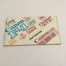VINTAGE BOOKLET MANUAL FOR CANON CAMERAS,LENSES AND ACCESSORIES- FREE SHIP