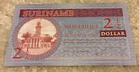 Suriname Banknote. 2 1/2 Dollar. Dated 2004. Uncirculated Note.