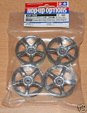 TAMIYA 53859 5-Spoke placcato metallo ruote 4 PZ, Offset 24mm (0) (TA05/TA06/FF03)