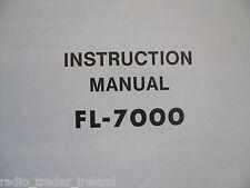 YAESU FL-7000 (GENUINE INSTRUCTION MANUAL ONLY)...........RADIO_TRADER_IRELAND.