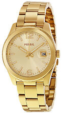 Fossil ES3586 Perfect Champagne Dial Gold Tone Stainless Steel Women's Watch