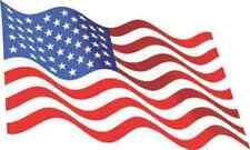 5in X 3in Waving American Flag Sticker Decal Stickers Window Vinyl Decals