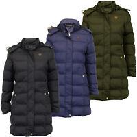 Ladies Parka Jacket Brave Soul Long Bubble Coat Hooded Padded Big Sizes Winter