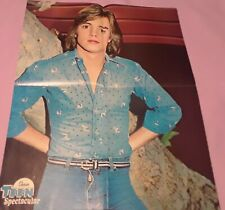 SHAUN CASSIDY 2 SIDED 4 PAGE POSTER CLIPPING FROM A MAGAZINE 70'S SEXY