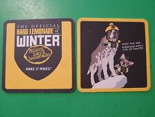 Beer Bar Coaster ~*~ MIKE'S HARD LEMONADE ~ First Aid for Those Sick of winter!