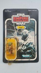 Star Wars ESB 41 Back Yoda Brown Snake MOC carded Vintage Kenner Reseal