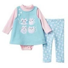 Bonnie Jean Aqua Kitty Cat Jumper Bodysuit & Leggings Outfit Baby Girl 18 Months