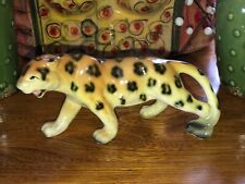 "Lefton Cheetah Ceramic Animal Figure Safari 7"" - Leopard Jaguar Tiger Japan"