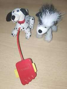LOT of 2: 102 Dalmatians Domino Dog & Fluffy Dog - MC DONALDS HAPPY MEAL TOYS