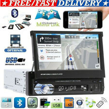 """New listing 7"""" Touch Screen Car Mp5 Stereo Radio Single 1 Din Flip out Bluetooth + Camera"""