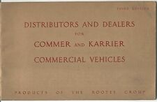 Commer Karrier Original UK Distributors & Dealers Book Pub. No.351B 1951