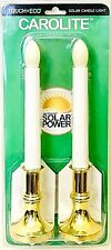 1 Package Carolite Touch Of Eco High Efficiency 2 Count Solar Power Candle Light