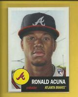Ronald Acuna RC 2018 Topps THE LIVING SET Rookie Card # 19 Atlanta Braves MLB