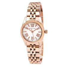 Michael Kors MK3230 Women's Petite Lexington White Dial Rose Gold Steel Watch