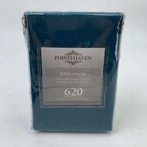 Pointehaven Euro Sham 26x26 Pillow Case 620 Thread Count Cotton Sateen Weeve New