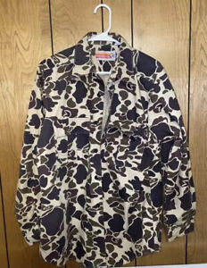 Vintage Winchester Hunting Shirt Camo Button Up Long Sleeve Duck Men's M