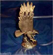"""Vintage Solid Brass Eagle - Heavy Paper weight, 7"""" tall"""
