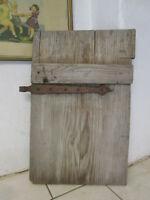 Uralt Tür mit Eisenbeschlag Deko Holztür Speisekarte Bioladen Beschläge
