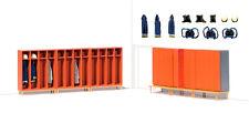Preiser 17708 Fire Service Lockers 6 Assembled H0