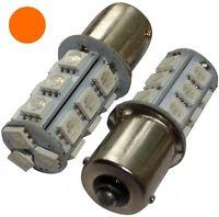 2x ampoule P21W R5W R10W 12V 18LED SMD ambré base 1156