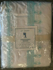 Pottery Barn Kids Embroidered Duvet Cover Twin Aqua Blue