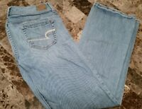 American Eagle Stretch Slim Boot Women's Jeans Size 4 Light Stretch Low Low Rise