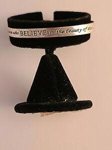 """Inspirational Sterling Silver Cuff Bracelet """"Believe in Dreams"""""""
