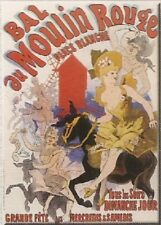 FRANCIA VINTAGE PLACA METAL 40x30cm BAILE MOULIN ROUGE MUSIC HALL PLAZA BLANCA C
