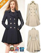 Petite Casual Knee Length Button Coats & Jackets for Women