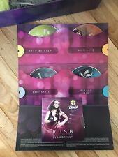 Zumba Fitness Exhilarate Body Shaping System 5 Dvd Set + Toning Sticks + Guide